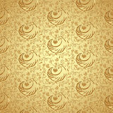 Vector golden seamless pattern Stock Photo