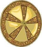 Vector golden shield Royalty Free Stock Photos