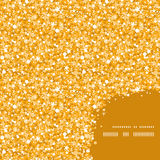 Vector golden shiny glitter texture frame corner Stock Photography