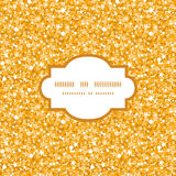 Vector golden shiny glitter texture frame seamless Royalty Free Stock Photos