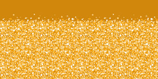 Vector golden shiny glitter texture horizontal Royalty Free Stock Image