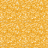 Vector golden shiny glitter texture seamless Royalty Free Stock Photography