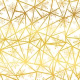 Vector golden snowflakes triangles seamless repeat pattern background. Great for winter holiday fabric, giftwrap. Packaging, covers, invitations. Surface Royalty Free Stock Photo