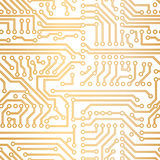 Vector golden technology pattern Stock Photos