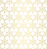 Vector golden texture, oriental geometric seamless pattern. Vector seamless pattern. Golden geometric background with polygons, gold ornament texture, oriental Royalty Free Stock Photos