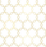Vector golden texture, trendy gold lines seamless pattern Royalty Free Stock Photo