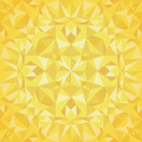 Vector Golden Triangles Foil Texture Seamless Pattern. Festive and Glowing Repeat Surface Design. Stock Photo