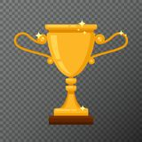 Vector golden trophy icon isolated on background.  Stock Images
