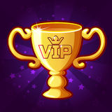 Vector Golden VIP Trophy Cup Stock Photography
