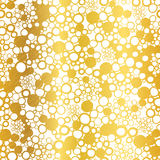 Vector Golden On White Abstract Grunge Bubbles Foil Texture Seamless Pattern Background. Great for elegant gold fabric Royalty Free Stock Photos