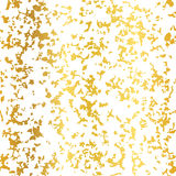 Vector Golden On White Abstract Grunge Flake Foil Texture Seamless Pattern Background. Great for elegant gold fabric Royalty Free Stock Image