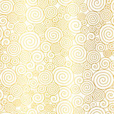 Vector Golden White Abstract Swirls Seamless Pattern Background. Great for elegant gold texture fabric, cards, wedding Stock Photography