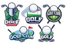 Golf badge design set. Vector of golf badge design set stock illustration