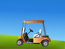 Vector Golf Cart royalty free stock image