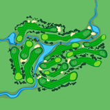 Vector golf course aerial view Stock Photography