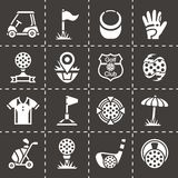 Vector Golf icon set Royalty Free Stock Photography