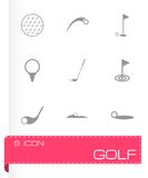 Vector golf icon set Stock Images