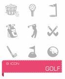 Vector golf icon set Stock Photos