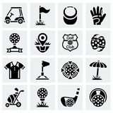 Vector Golf icon set Stock Image
