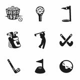 Vector golf icon set Royalty Free Stock Image