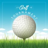 Vector golf tournament background vector illustration
