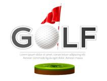 Free Vector Golf Tournament Poster Golf Club And Ball Royalty Free Stock Images - 159762469