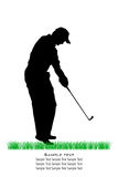 Vector Golfer Silhouettes Royalty Free Stock Photos