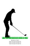 Vector Golfer Silhouettes Stock Photos