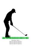 Vector Golfer Silhouettes Stock Photos