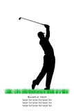 Vector Golfer Silhouettes Royalty Free Stock Photography