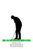 Vector Golfer Silhouettes Stock Image