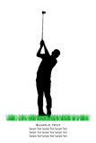 Vector Golfer Silhouettes Stock Photo