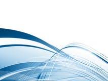 Vector golvende lijnen Royalty-vrije Stock Foto's