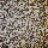 Vector gouden abstract retro uitstekend pixelmozaïek Stock Fotografie