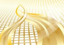 Vector gouden abstracte achtergrond met textuur Stock Foto's