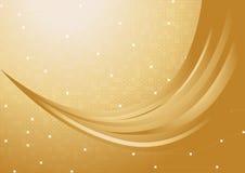Vector gouden achtergrond Stock Afbeeldingen