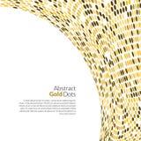 Vector gouden achtergrond Rond gouden mozaïekconcept Stock Fotografie