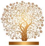 Vector gouden boom Stock Foto