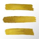 Vector gouden de slagvlek van de verfvlek Royalty-vrije Stock Afbeeldingen
