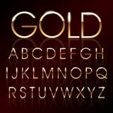 Vector gouden doopvont Stock Foto's