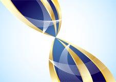 Vector gouden en blauwe achtergrond Royalty-vrije Stock Foto's