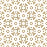Vector gouden en wit naadloos patroon in Aziatische stijl Abstracte bloemen gouden textuur Stock Afbeelding