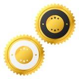 Vector gouden etiket Stock Foto