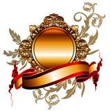 Vector gouden frame & Lint Royalty-vrije Stock Fotografie