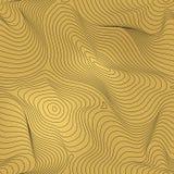 Vector gouden geometrisch naadloos patroon, gouden folieachtergrond royalty-vrije illustratie