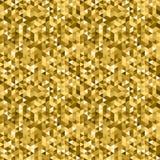 Vector gouden geometrische achtergrond Royalty-vrije Stock Afbeeldingen