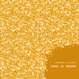 Vector gouden glanzend schittert de hoek van het textuurkader Stock Fotografie