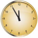 Vector gouden klok Royalty-vrije Stock Foto's