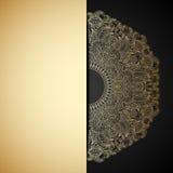 Vector gouden ornament. Stock Foto's