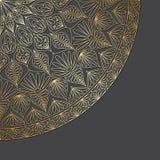 Vector gouden ornament. Royalty-vrije Stock Fotografie